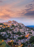 Old village Gordes in the evening, Provence, France Stock Photos