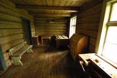 Old village house. Old wooden village house in norway, interior Royalty Free Stock Image