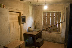 Old village house interior. In nice coulours stock photography