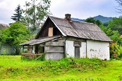 Old Village House in the mountains Royalty Free Stock Image