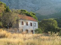 Old village house in Strn in Croatia Royalty Free Stock Photo