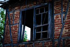 Old Village House Window Stock Images