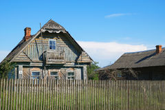 Old village house. Old wooden house in the village. Architecture, rural life Royalty Free Stock Image