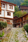 Old village houses stock photo