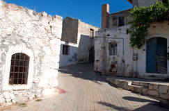 Old village houses at Crete Island, Greece Royalty Free Stock Photos