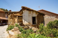 Old village. Old houses in Kakopetria village, Cyprus Royalty Free Stock Photos