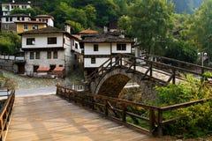 Old village houses from Shiroka luka royalty free stock images