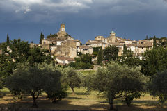 Old village of Lourmarin, region of Luberon, Provence Royalty Free Stock Image