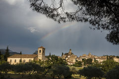 Old village of Lourmarin, region of Luberon, Provence, France an Royalty Free Stock Photography