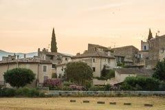 Old village of Lourmarine during morning time in Provence. Old houses in village Lourmarine during morning time in Provence, France Stock Photography