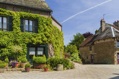 An old village. A lovely village in Normandy Royalty Free Stock Photo