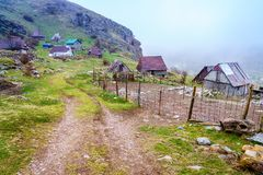 Bosnian village in the mountains Royalty Free Stock Image