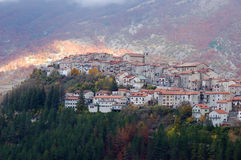 Old village of Opi in Abruzzo Stock Photo