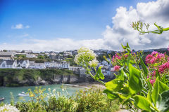 Old village Port Isaac, Cornwall Stock Photo