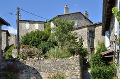 Old village of Puycelsi in France Stock Image