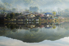 Old Village is reflection Rak Thai Village in Pai,Mae Hong Son,Thailand. Stock Image