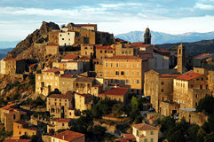 Old village on a rocky height Royalty Free Stock Images