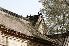 Old village roofs stock images