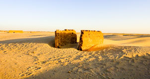 Old village ruins in Sahara. Tunisia Stock Photo