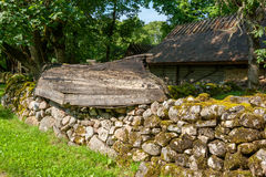 Old village. Saaremaa Island, Estonia Royalty Free Stock Image