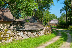 Old village. Saaremaa Island, Estonia Stock Photos