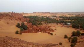Old village in Sahara stock photography