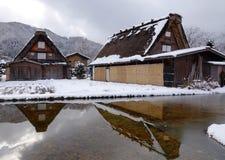 Old village in Shirakawa-go, Japan Royalty Free Stock Images