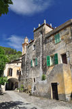 Old village square, Fanghetto, Liguria, Italy Stock Image