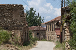Old village with stone houses Royalty Free Stock Photography