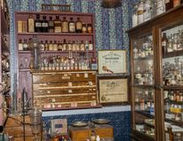 Old village store with medicines royalty free stock images