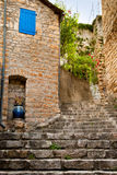 Old Village Street Steps Royalty Free Stock Photos