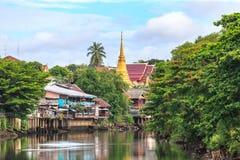 Old village in thai style, Chanthaburi Royalty Free Stock Photo