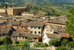 Old village in Tuscany, Italy stock photography