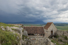 Old village. Old vilage in storm sky Stock Photo