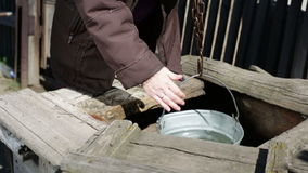 Old village well stock video footage