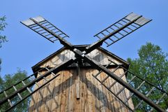 Old village windmill Royalty Free Stock Photos