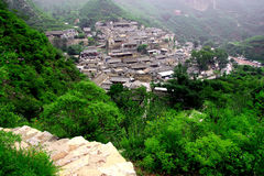 Old villages. China Beijing house  ountain Stock Photo