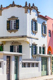 Old Villas residential area. Typical Portuguese old villas residential area by the street Stock Photos