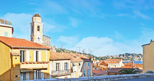The old Villefranche-sur-Mer Stock Image