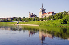 Old Vilnius and Neris river Stock Photography