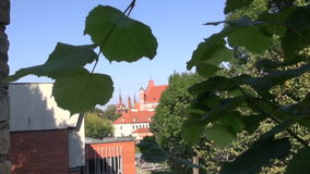 Old Vilnius and St. Anne church towers. Lithuania stock footage