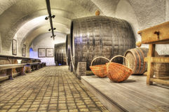 Old vine cellar. In croatia stock photos