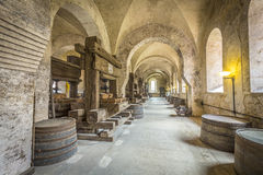 Old vinery in Eberbach. EBERBACH, GERMANY - JUNE 6, 2016: old vinery in Eberbach. The Abbey is a former Cistercian monastery near Eltville am Rhein in the Royalty Free Stock Photography