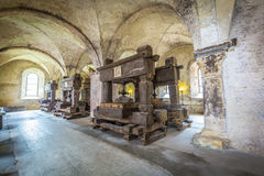 Old vinery in Eberbach. EBERBACH, GERMANY - JUNE 6, 2016: old vinery in Eberbach. The Abbey is a former Cistercian monastery near Eltville am Rhein in the Stock Images