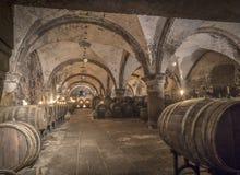 Old vinery in Eberbach. EBERBACH, GERMANY - JUNE 6, 2016: old vinery in Eberbach. The Abbey is a former Cistercian monastery near Eltville am Rhein in the Stock Photo