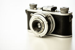 Old vingtage camera with copy space Stock Images