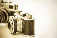 Old vingtage camera with copy space Royalty Free Stock Photo