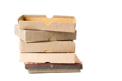 Old vingtage cardboard boxes Royalty Free Stock Image