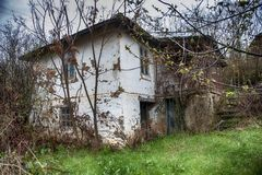 Old vintage abandoned house in the countryside stock photography