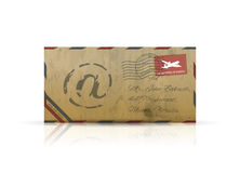 Old vintage airmail envelope vector Stock Image